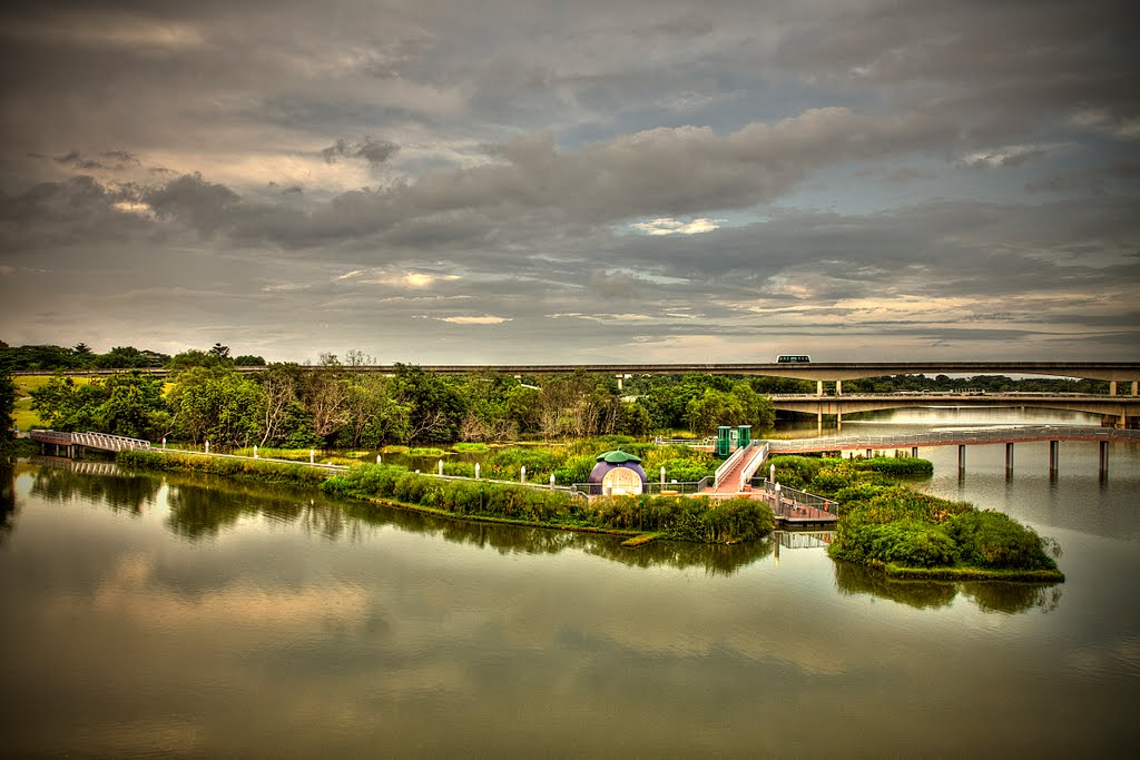 Punggol River Reservoir & Sengkang Riverside Park near the Vales EC