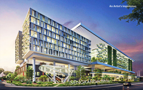 Sengkang Hospital opposite The Vales EC