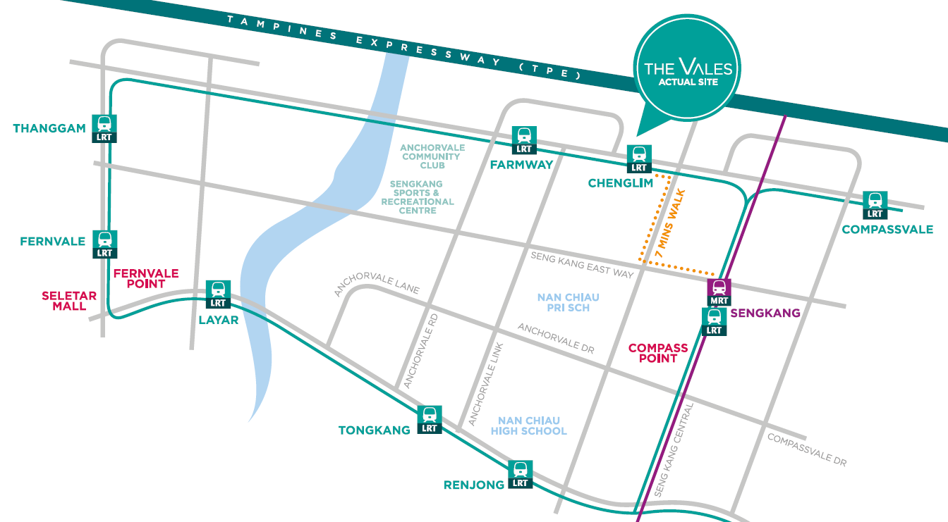 The Vales EC Location Map