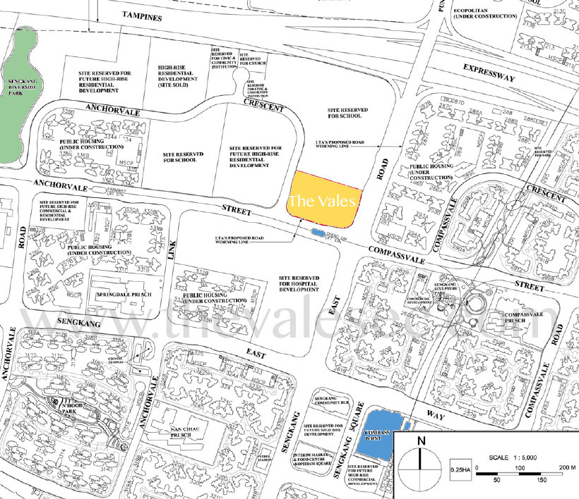 The Vales EC Location :: Vales Showflat Location